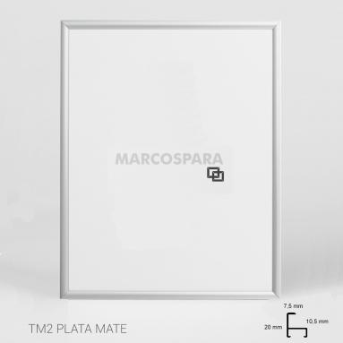 Marco de Aluminio Plata TM2