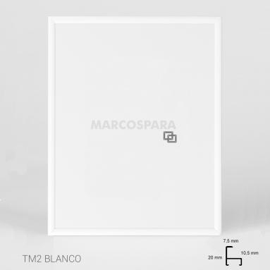 Marco de Aluminio Blanco TM2