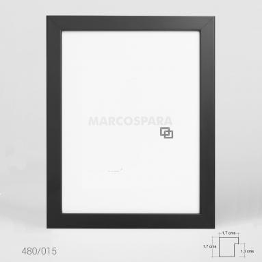 Marco de Madera Negro M480