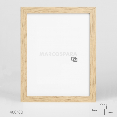 Marco de Madera Roble M480
