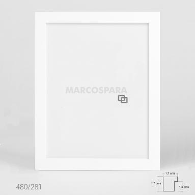 Marco de Madera Blanco M480