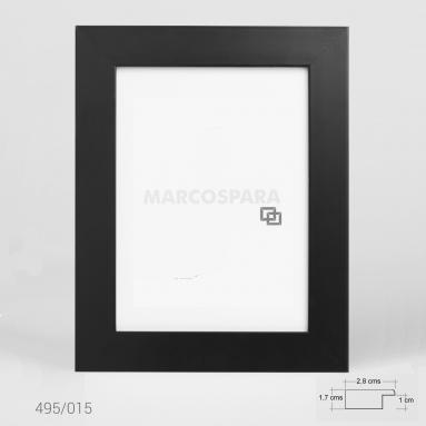 Marco de Madera Negro M495